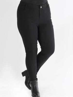 Gemina - Sorte stretchy leggings i jeanslook